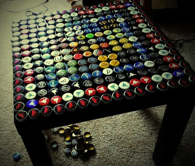 bottle cap coffee table instructions