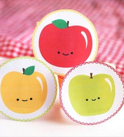 Ideas for DIY Happy Apple Printable Napkin Rings