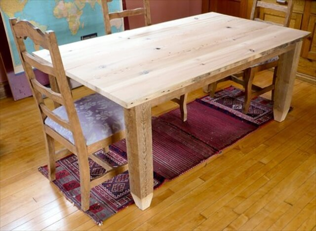 How to Make an Amazing Dining Table from Reclaimed Wood