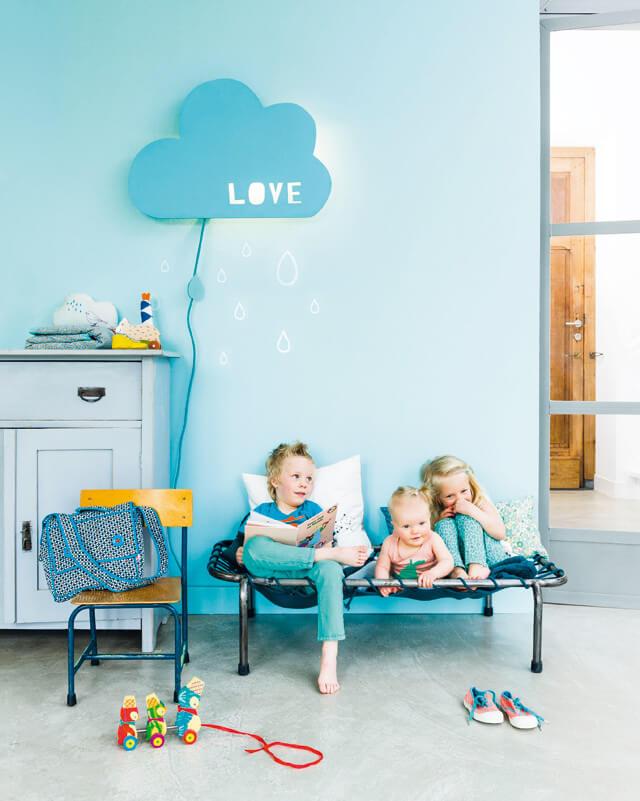 unique diy cloud lamp for kids