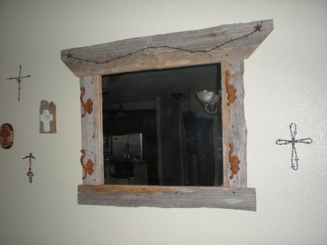Craft Idea Ranch barn wood mirror