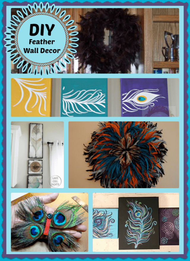 DIY feather wall decore