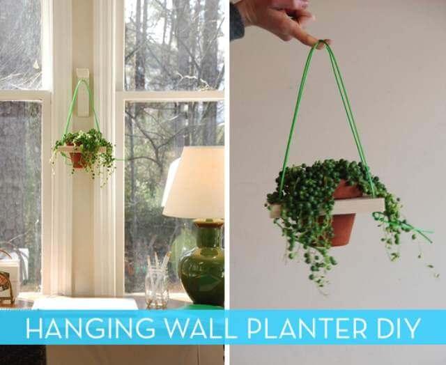 DIy Hanging Wall Planter