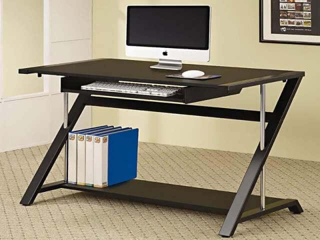 black wood computer desk DIY