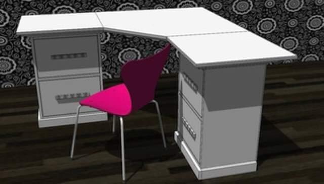 corner DIY computer Desk
