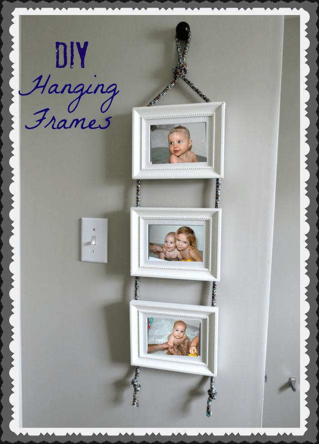 diy hanging frame