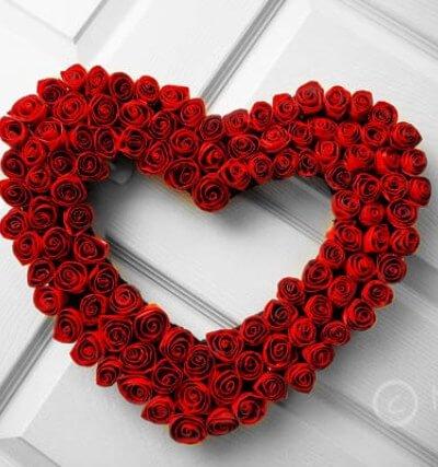 Duct Tape Rose Valentine's Wreath