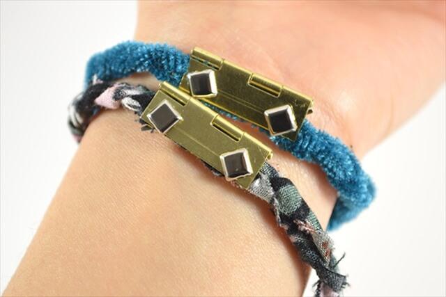 DIY Fabric Hinge Bracelets
