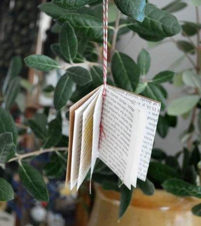 Tiny Book Ornament - DIY