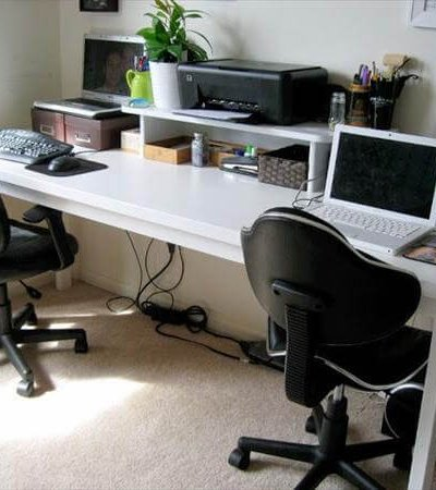 modern diy computer desk idea