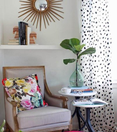 DIY Spotted Drapery Cohesive Layout