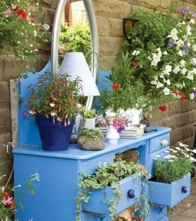 diy dresser garden project