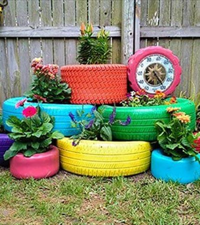 tire garden planter