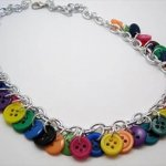 handcrafted button necklace