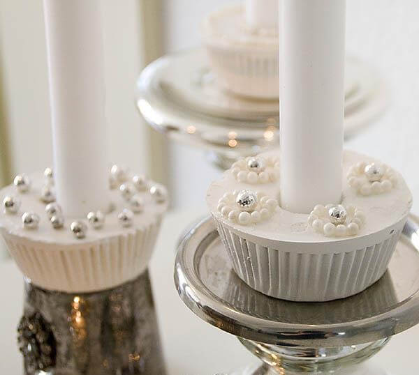 diy cupcake candle holders