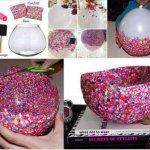 diy ballon confetti vase