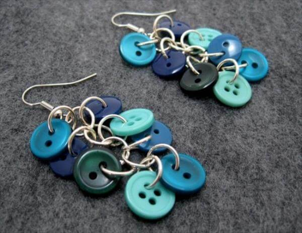 homemade button earrings