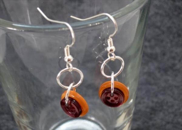 handcrafted button earrings