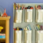 tin can stationery storage