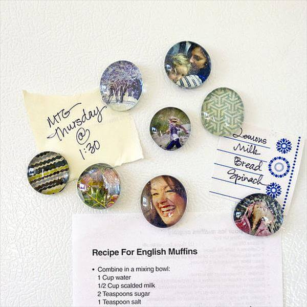 handmade photo magnets
