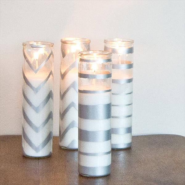 reclaimed sparkling candles