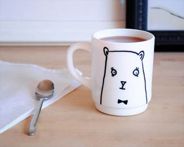 handcrafted bear cup