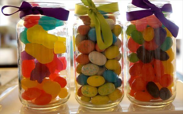 diy pallet mason jar candy holder