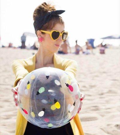 hand painted beach ball