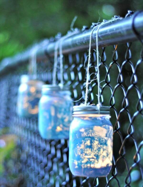 reclaimed mason jar lanterns
