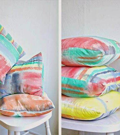 hand printed pillow covers