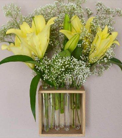 handmade test tube vases