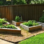 upcycled wood raised bed vegetable garden
