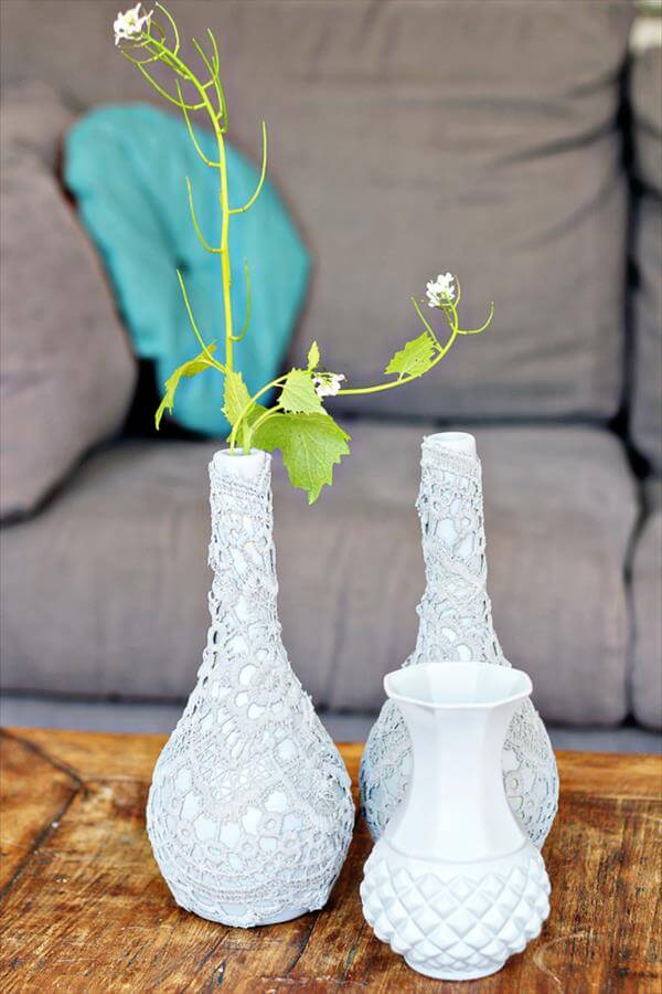 repurposed fabric vases