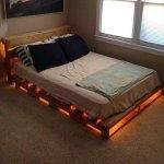 elegant bed frame made of pallets
