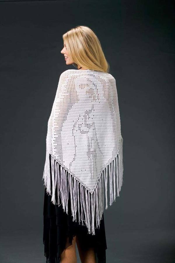 creative crochet shawl pattern