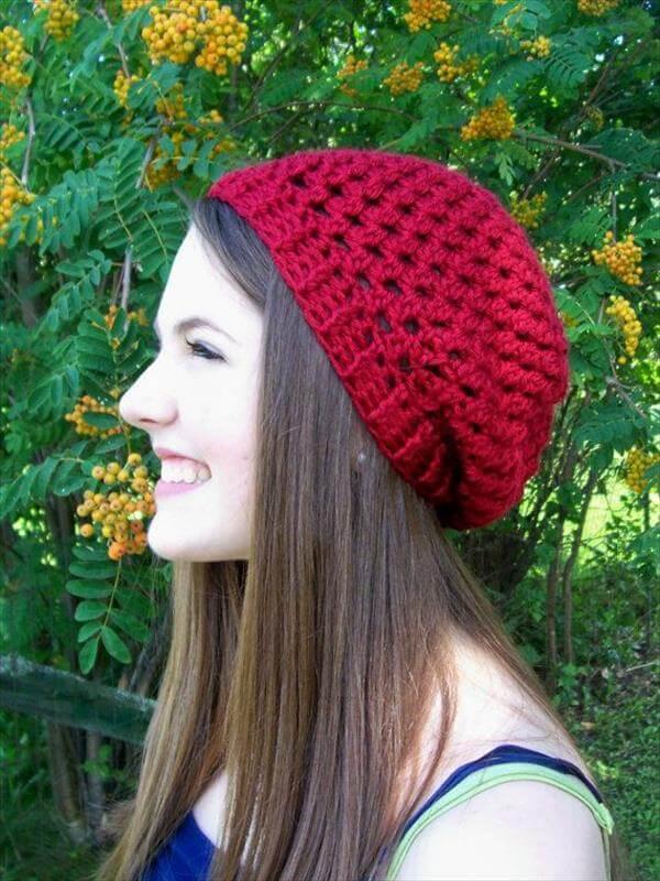 chic crochet beanie pattern