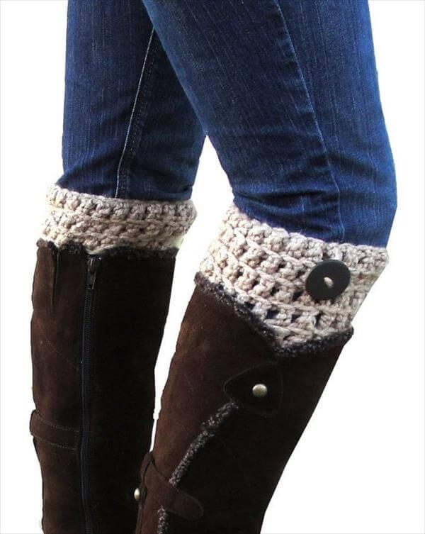 diy chic crochet boot cuffs pattern