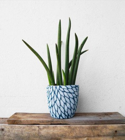 DIY Flower Pot with Sweater