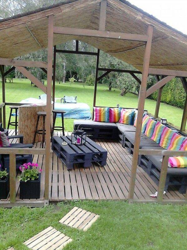 pallet outdoor home deck sofa sitting