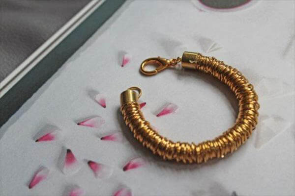 diy coil ring bracelet