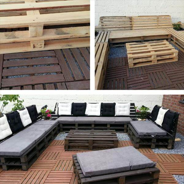 cushioned pallet outdoor sofa sitting plan