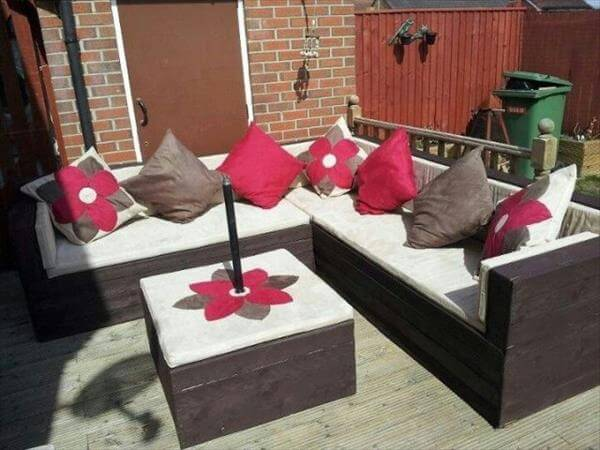 chic pallet outdoor sectional sofa