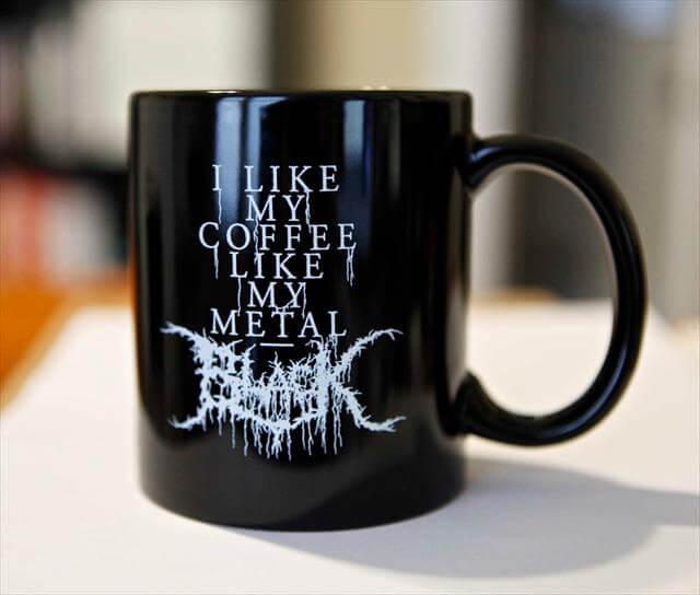 Black Metal Coffee Mug Gift