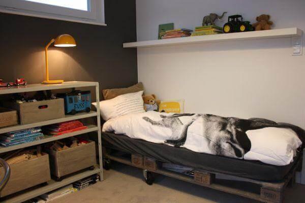 resurrected pallet bed frame