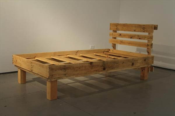 rustic pallet recycled pallet bed