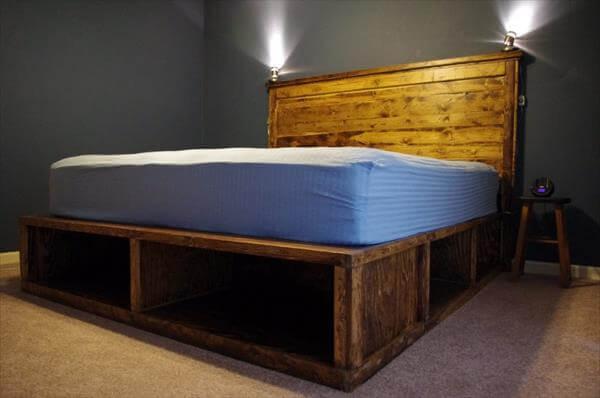diy pallet platfrom bed plan