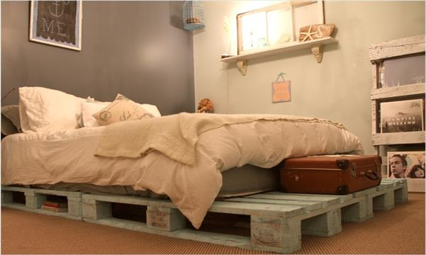 upcycled pallet bed frame