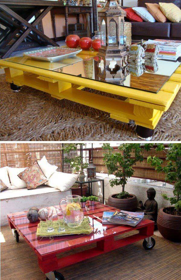 decor coffee pallet table