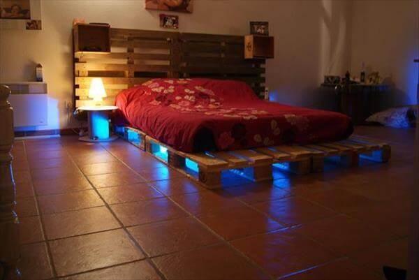 old pallet bed