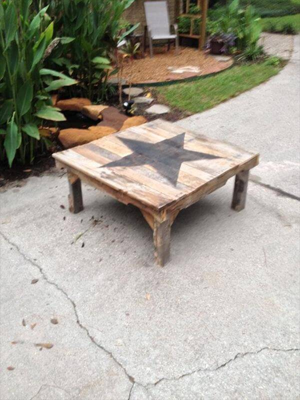 star pallet coffee table